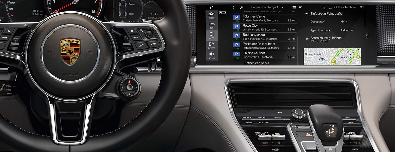 Porsche Updates Connected Car Features with SIM, Wi-Fi